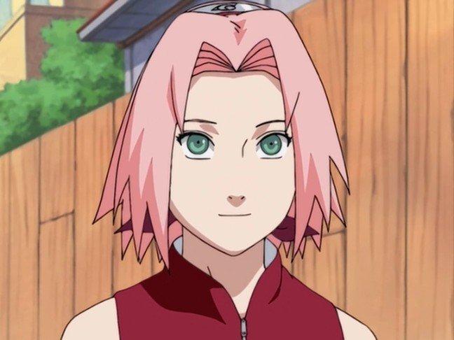 sakura haruno smile naruto anime