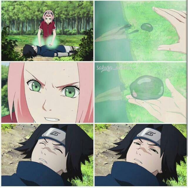 sakura saves sasuke from poison 1