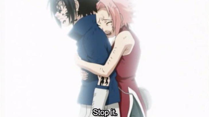 sakura stops sasuke forest of death