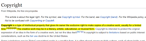 wikipedia copyright page 1