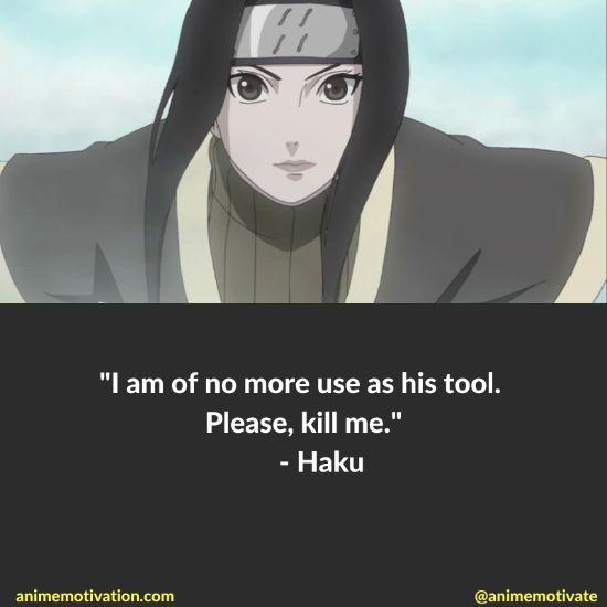 Haku quotes naruto 9