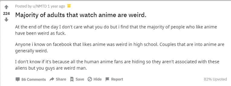 anime is for weirdos reddit