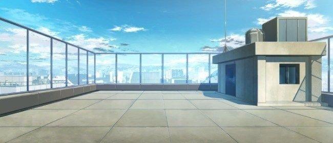 anime school roof