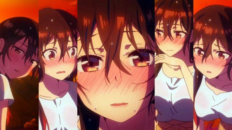 chizuru blushing rent a girlfriend