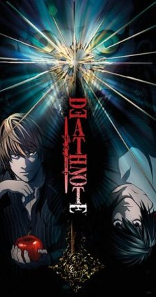 death note anime cover light and l lawliet