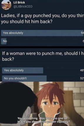 kazuma gender equality lesson