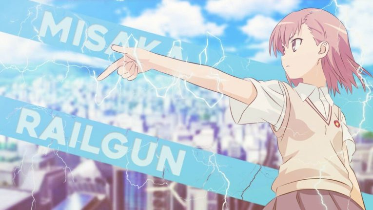 mikoto misaka the railgun anime wallpaper