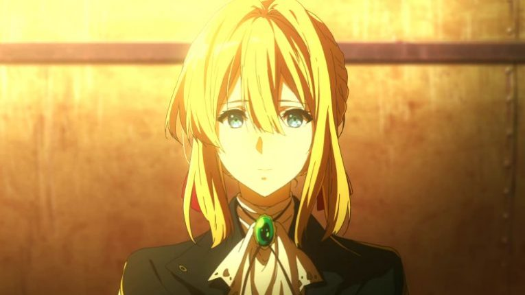 violet evergarden blonde hair