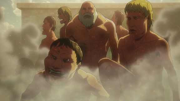 attack on titan titans naked
