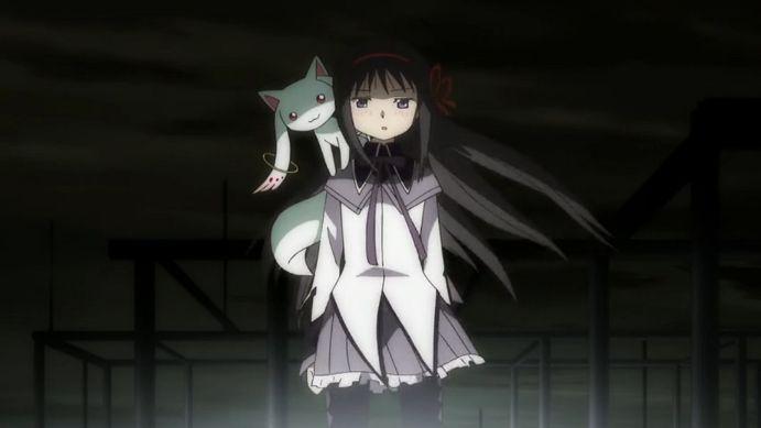 homura akemi with kyubey