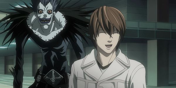 light and ryuk fake smile