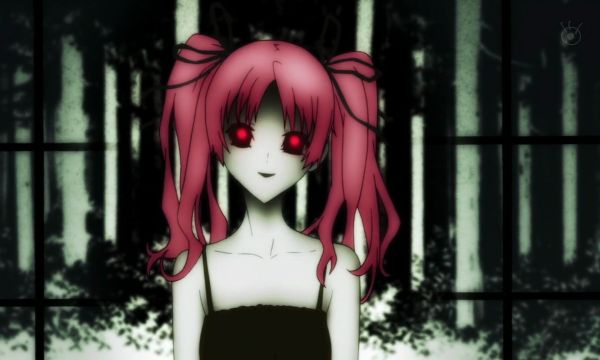 shiki pink hair girl demon