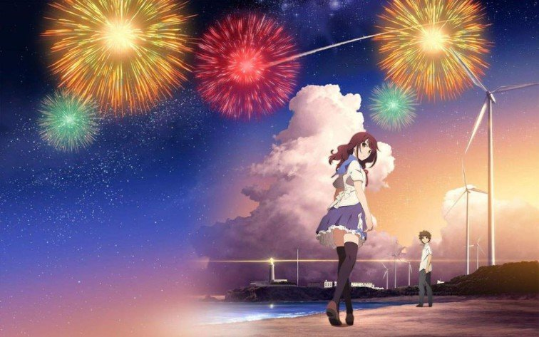 Fireworks Should We See It From The Side Or Bottom anime
