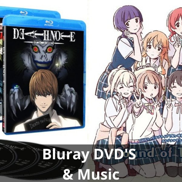 blu rays and dvds anime