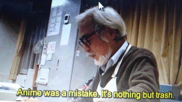 hayao miyazaki anime trash