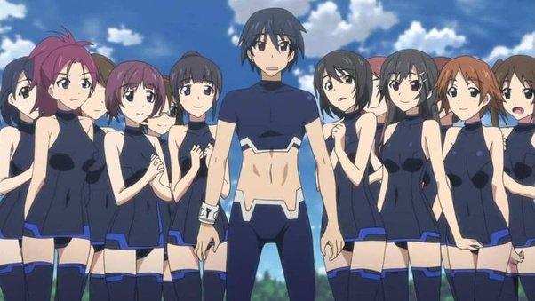cliche anime harems boy