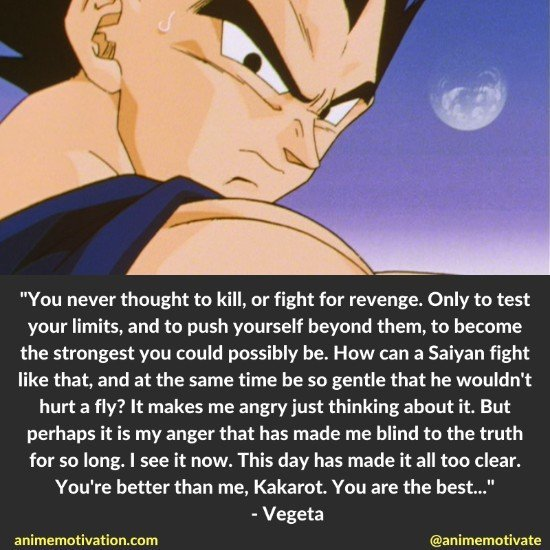 vegeta prince quotes