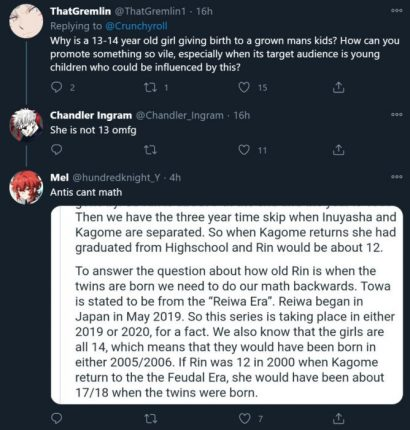yashahime controversy rin twitter