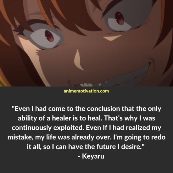 Keyaru quotes redo of healer 5