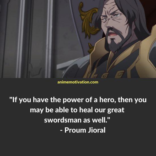 Proum Jioral quotes redo of healer