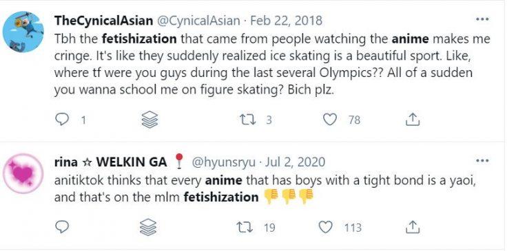 anime fetishization tweets
