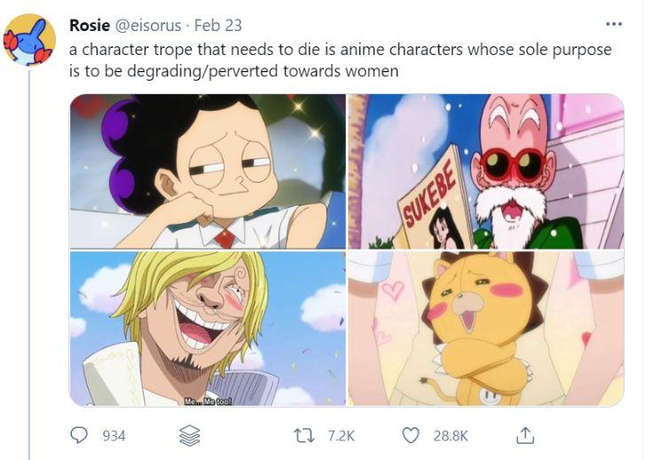 anime tropes degrading women twitter critic
