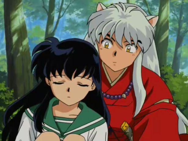 inuyasha and kagome anime moments