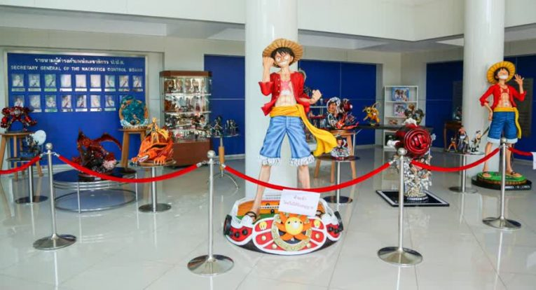 luffy figurine auction thailand drug case
