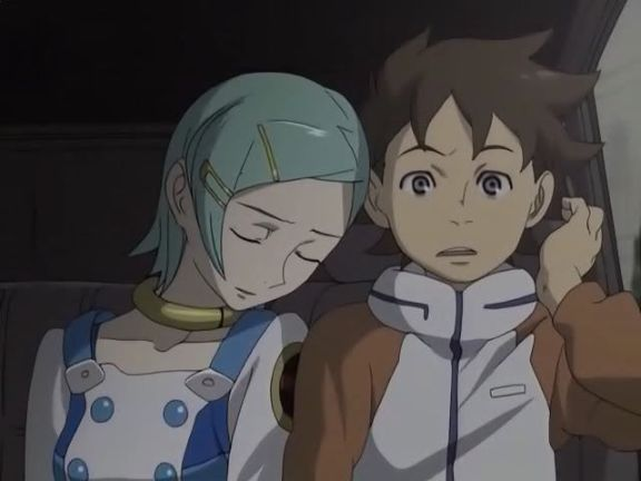 Eureka Seven renton and eureka cute