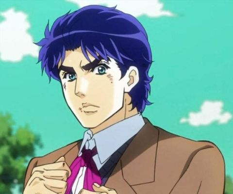 Jonathan Joestar blue hair