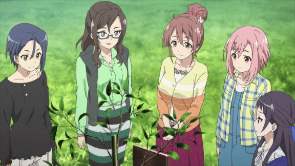 Sakura Quest characters rural
