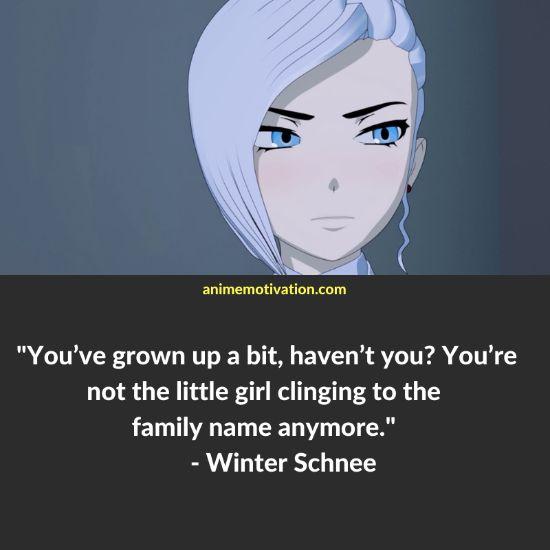 Winter Schnee RWBY quotes 7