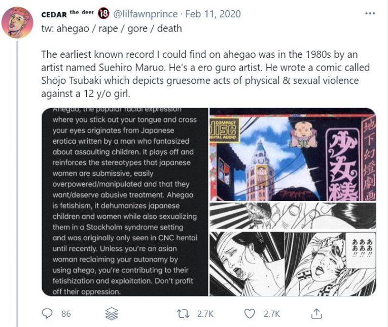 ahegao twitter tweet history