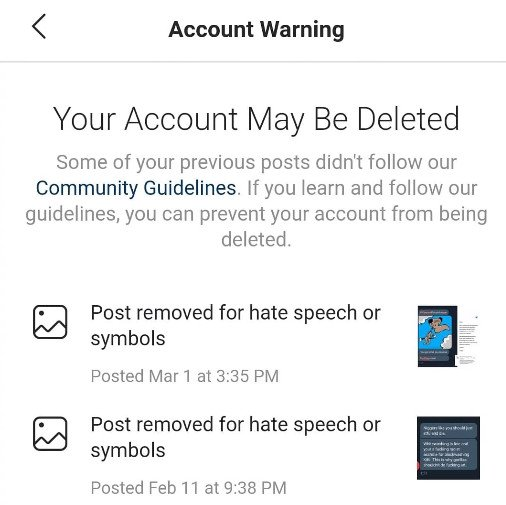 instagram threaten to silence thumin for speaking out against RACISM