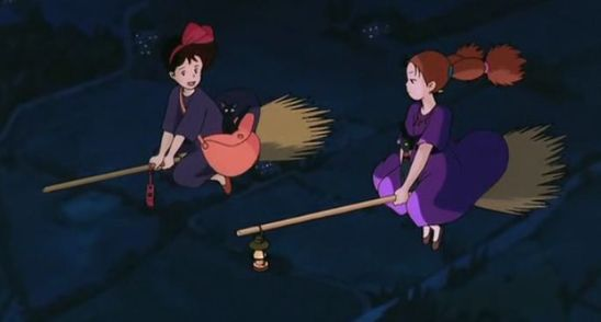 kiki meets witch anime