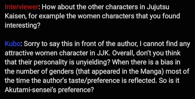kubo interview jujutsu kaisen characters