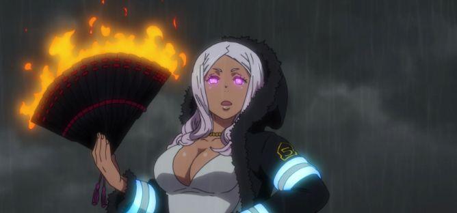 princess hibana fire force captain company 5