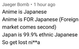 racist anime fans youtube