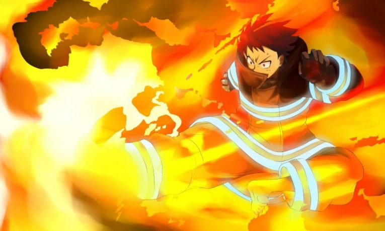 shinra kusakabe fire force kick wallpaper