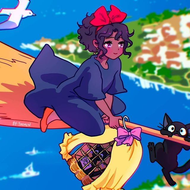 thumin art kikis delivery service black girl
