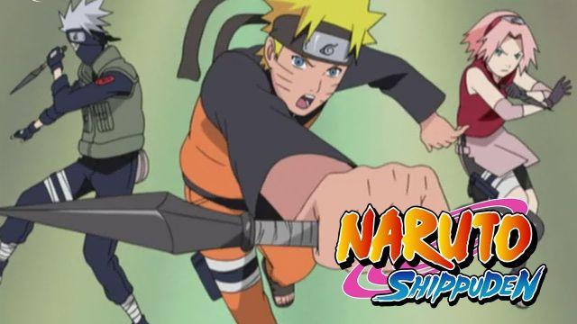 naruto, kakashi, and sakura screenshot naruto shippuden