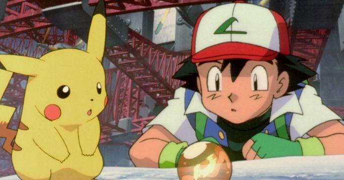 ash and pikachu staring