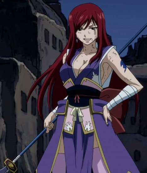 erza scarlet red hair queen of the fairies
