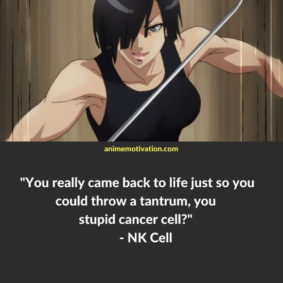 You really came back to life just so you could throw a tantrum, you stupid cancer cell? - Natural Killer Cell