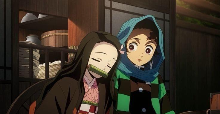 tanjiro with sister nezuko home e1619601969664