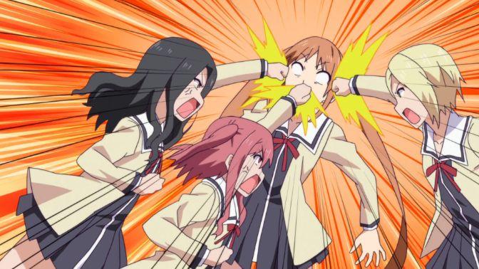 Aho Girl triple punch