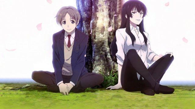 Beautiful Bones main characters sitting on grass