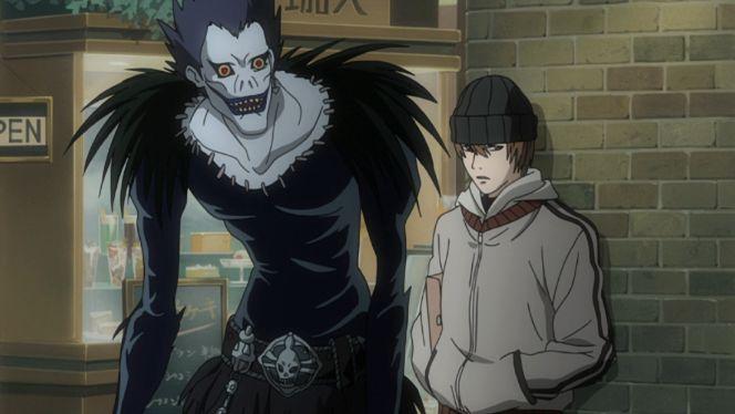 Death Note kira ryuk street