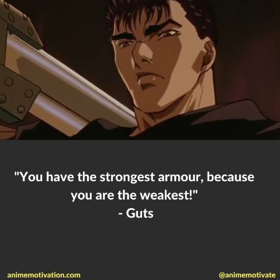 You have the strongest armour, because you are the weakest