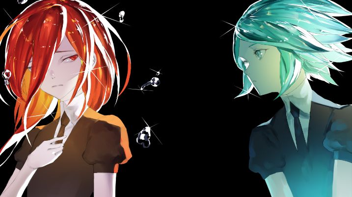 Land Of The Lustrous cinnabar and phos beautiful